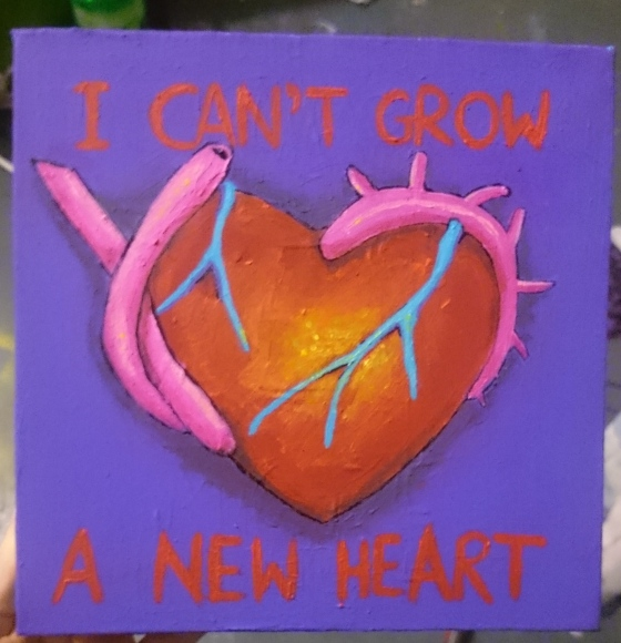 i can't grow a new heart