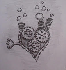 Clockwork heart sketch...